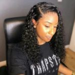 Deep curly hair with frontal