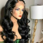 Super double drawn wavy hair with frontal wig